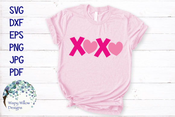 Download Free Xoxo Valentine Graphic By Wispywillowdesigns Creative Fabrica for Cricut Explore, Silhouette and other cutting machines.