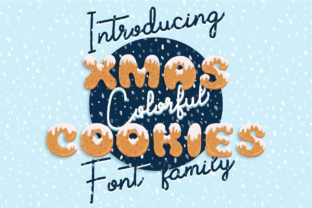 Print on Demand: Xmas Cookie Color Fonts Font By z.zajka