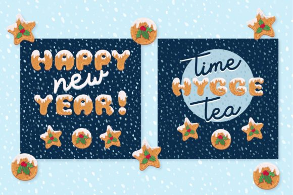 Xmas Cookie Font Image
