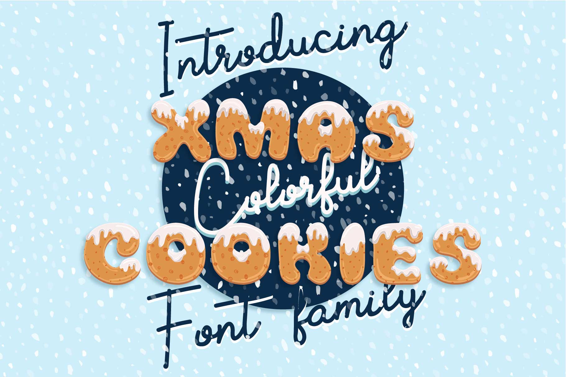 Download Free Xmas Cookie Font By Z Zajka Creative Fabrica for Cricut Explore, Silhouette and other cutting machines.