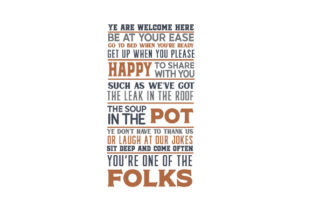 Ye Are Welcome Here Poem Orange Home Craft Cut File By Creative Fabrica Crafts