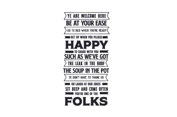 Download Free Ye Are Welcome Here Poem Svg Cut File By Creative Fabrica Crafts for Cricut Explore, Silhouette and other cutting machines.