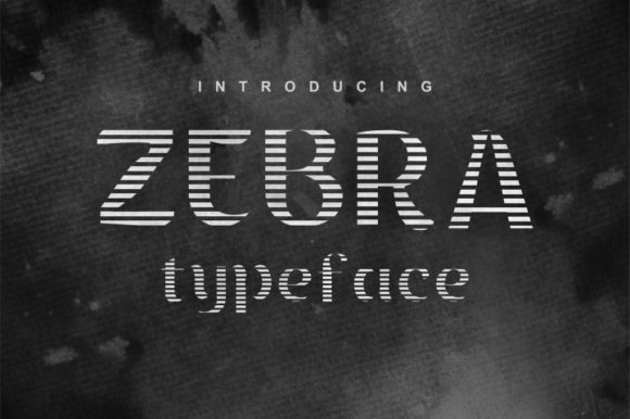 Print on Demand: Zebra Display Font By bywahtung - Image 1