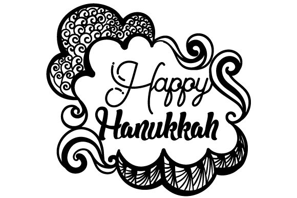 Zentangle Happy Hanukkah Zentangle Craft Cut File By Creative Fabrica Crafts