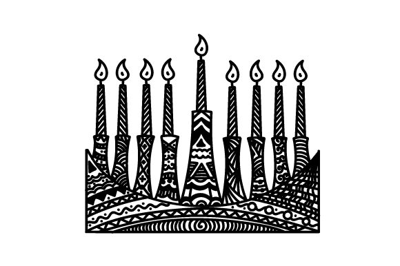 Zentangle Menorah Zentangle Craft Cut File By Creative Fabrica Crafts