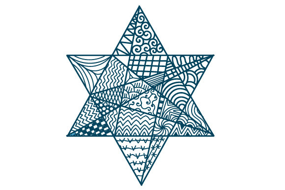 Zentangle Star of David Zentangle Craft Cut File By Creative Fabrica Crafts
