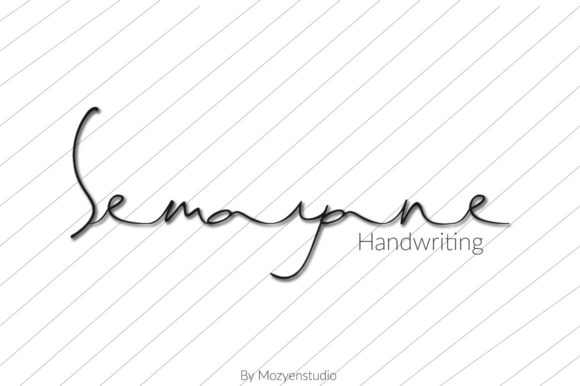 Print on Demand: Semayane Script & Handwritten Font By mozyenstudio