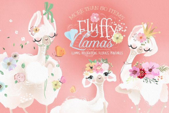 Fluffy Llamas Graphic By Anna Babich