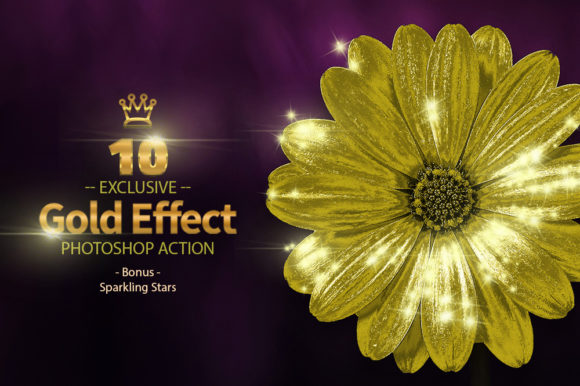 10 Gold & Sparkling Stars Graphic By yantodesign Image 2