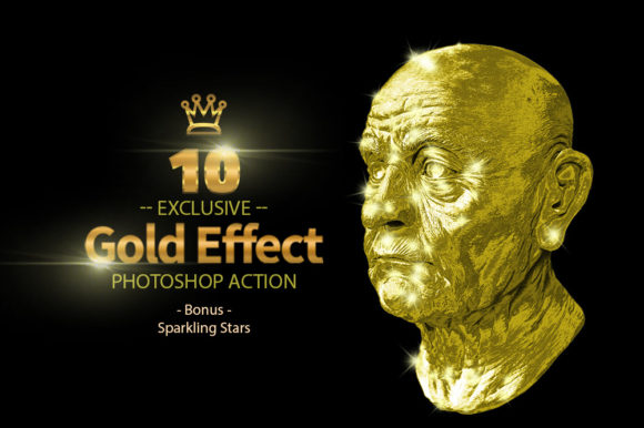 10 Gold & Sparkling Stars Graphic By yantodesign Image 3