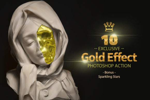 10 Gold & Sparkling Stars Graphic By yantodesign Image 4