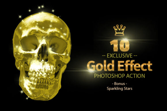 10 Gold & Sparkling Stars Graphic By yantodesign Image 1