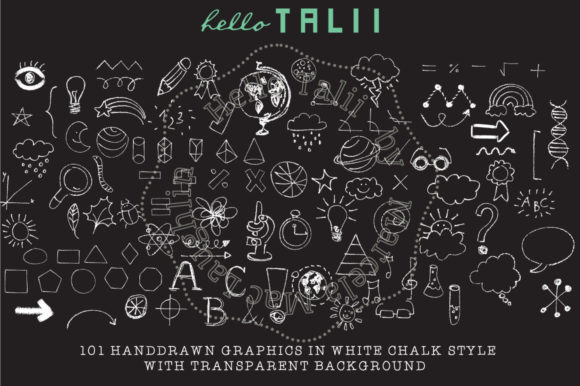 Download Free 101 School Chalk Doodles Chalkboard Papers Graphic By Hello for Cricut Explore, Silhouette and other cutting machines.
