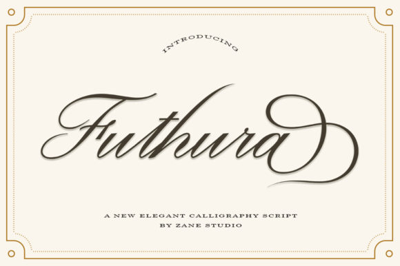Print on Demand: Futhura Script Script & Handwritten Font By Zane Studio - Image 1