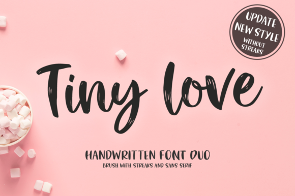 Print on Demand: Tiny Love Duo Script & Handwritten Font By Pasha Larin