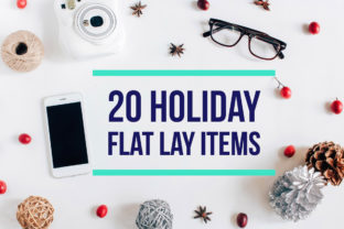 20 Holiday Flat Lay Items Graphic By Nuchylee