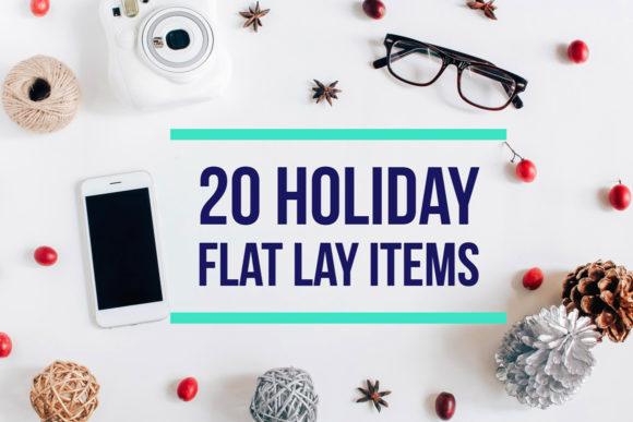 20 Holiday Flat Lay Items Graphic Holidays By Nuchylee - Image 1