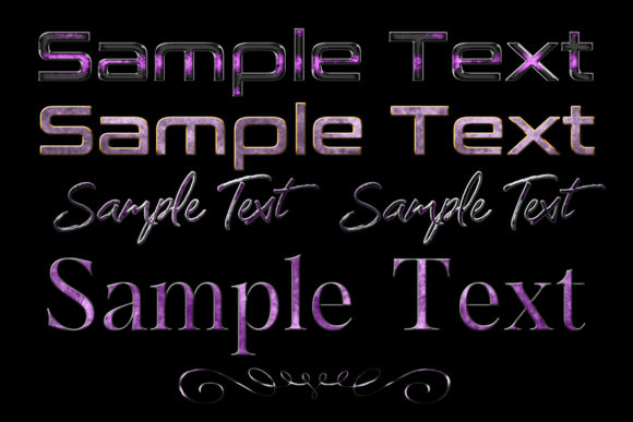 Print on Demand: 20 Lilac to Purple Layer Styles for Photoshop Graphic Layer Styles By SapphireXDesigns - Image 2