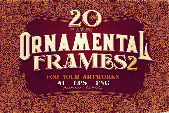 Print on Demand: 20 Ornamental Vintage Frames Graphic Objects By JumboDesign