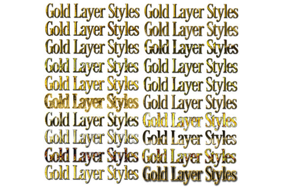 Print on Demand: 20 Roughened Gold Metallic Layer Styles Graphic Layer Styles By SapphireXDesigns - Image 2