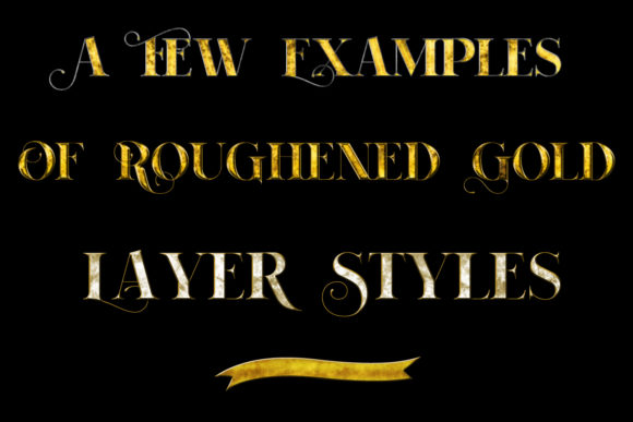 Print on Demand: 20 Roughened Gold Metallic Layer Styles Graphic Layer Styles By SapphireXDesigns - Image 3