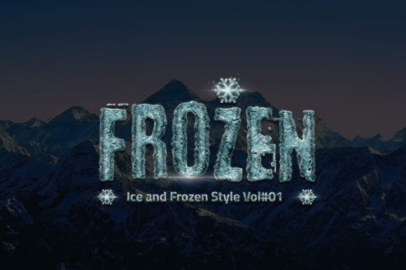 24 Frozen and Ice Text Effect Graphic Layer Styles By yantodesign
