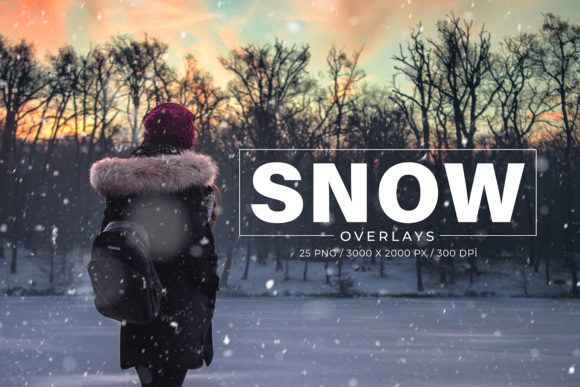 Download Free 25 Snow Photoshop Overlays Graphic By Creative Tacos Creative for Cricut Explore, Silhouette and other cutting machines.