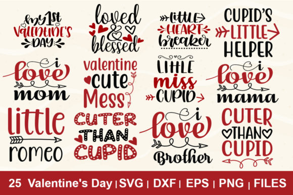 Print on Demand: 25 Valentines Day Bundle Graphic Illustrations By svgbundle.net
