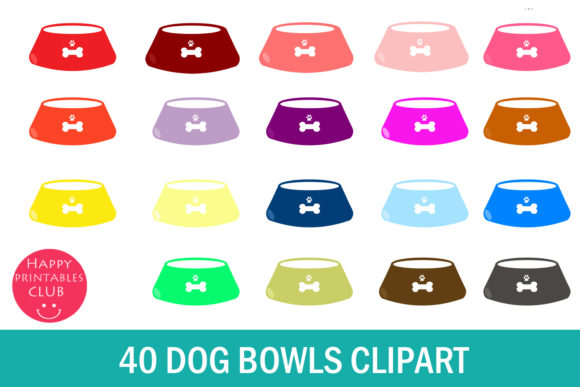 Download Free 40 Dog Bowls Clipart Graphic By Happy Printables Club Creative for Cricut Explore, Silhouette and other cutting machines.