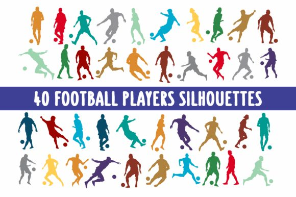 40 Football Soccer Players Graphic