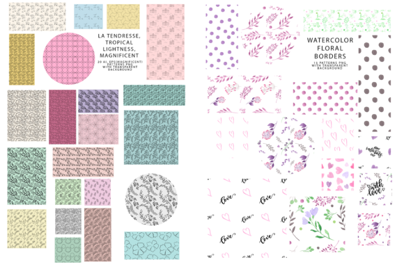 747 Pattern Bundle Graphic Patterns By BilberryCreate - Image 11
