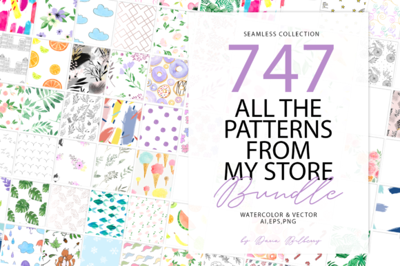 747 Pattern Bundle Graphic Patterns By BilberryCreate - Image 1