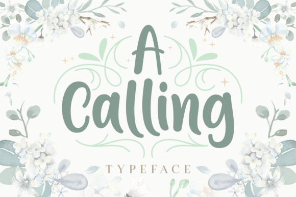 Print on Demand: A Calling Script & Handwritten Font By Rifki (7ntypes)