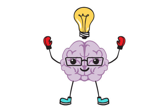 Download Free Brain With Glasses And A Lightbulb On Top Svg Cut File By for Cricut Explore, Silhouette and other cutting machines.