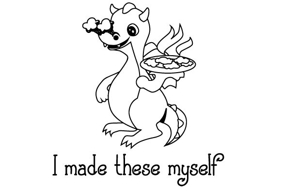 Download Free A Dragon Holding A Plate Of Cookies Svg Cut File By Creative for Cricut Explore, Silhouette and other cutting machines.