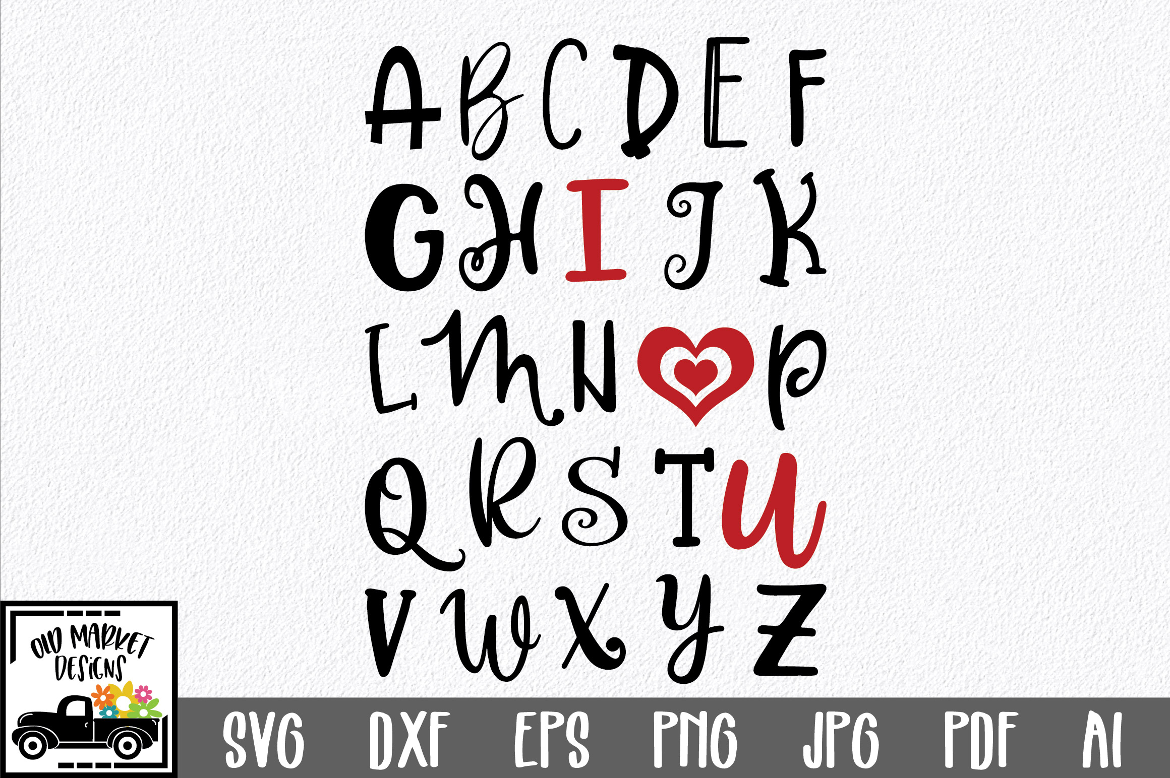 Download Free Abc I Love You Svg Cut File Graphic By Oldmarketdesigns for Cricut Explore, Silhouette and other cutting machines.