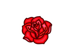 Download Free Abstract Rose Flower Logo Grafico Por Yahyaanasatokillah for Cricut Explore, Silhouette and other cutting machines.