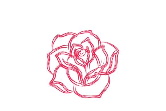 Download Free Abstract Rose Flower Logo Graphic By Yahyaanasatokillah for Cricut Explore, Silhouette and other cutting machines.
