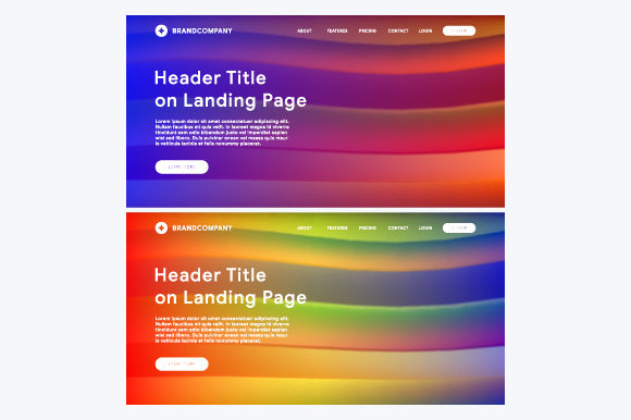 Abstract Gradient Background Design of Header Web Graphic Web Elements By MrBrahmana