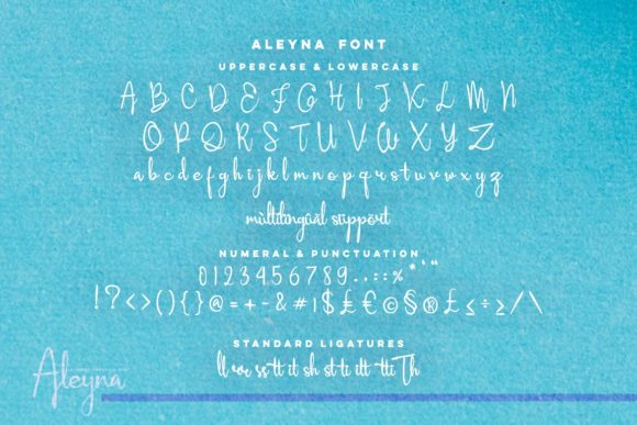Aleyna Font By Ardian Nuvianto Image 4