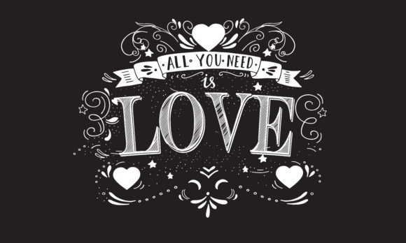 Download Free All You Need Is Love Graphic By Baraeiji Creative Fabrica for Cricut Explore, Silhouette and other cutting machines.