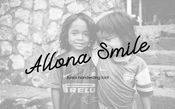 Print on Demand: Allona Smile Script & Handwritten Font By Typeting Studio