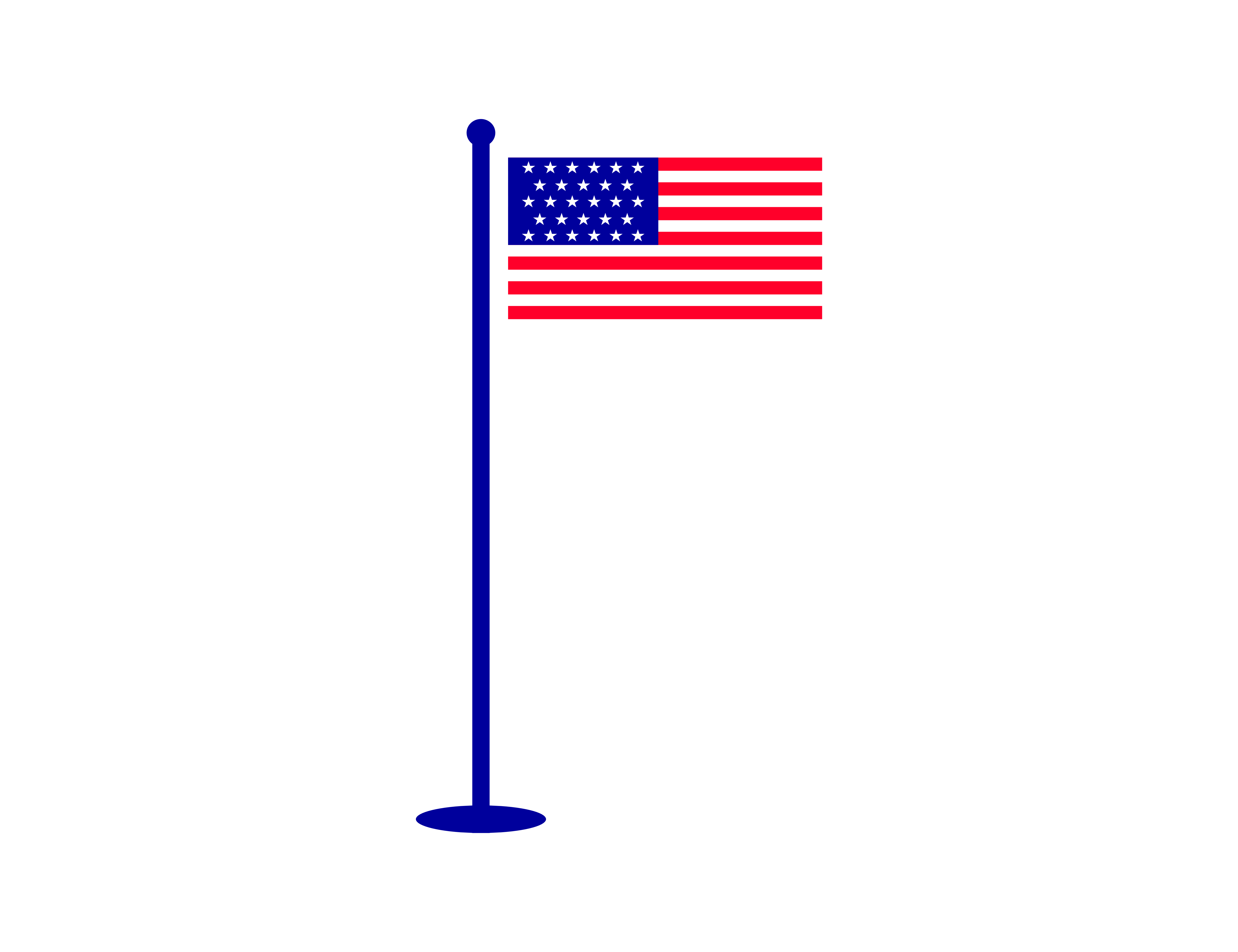 American Flag Vector Illustration Graphic By Meisuseno