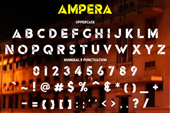 Print on Demand: Ampera Display Font By da_only_aan - Image 2