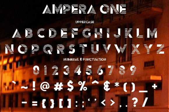 Print on Demand: Ampera Display Font By da_only_aan - Image 3