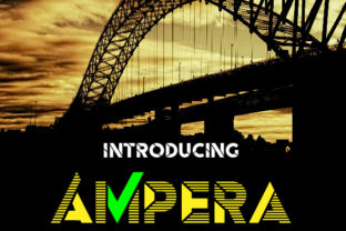 Ampera Display Font By da_only_aan