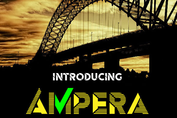 Print on Demand: Ampera Display Font By da_only_aan