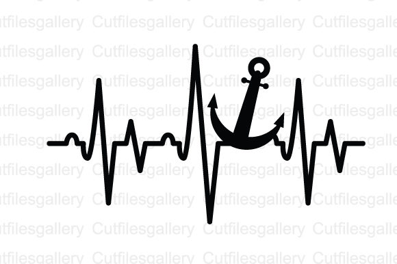 Download Free Anchor Heartbeat Graphic By Cutfilesgallery Creative Fabrica for Cricut Explore, Silhouette and other cutting machines.