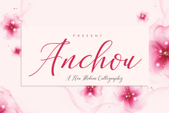 Print on Demand: Anchou Script & Handwritten Font By Malindo Creative