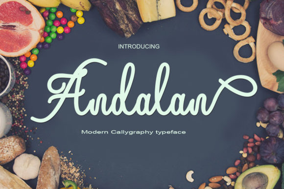 Print on Demand: Andalan Script & Handwritten Font By art design